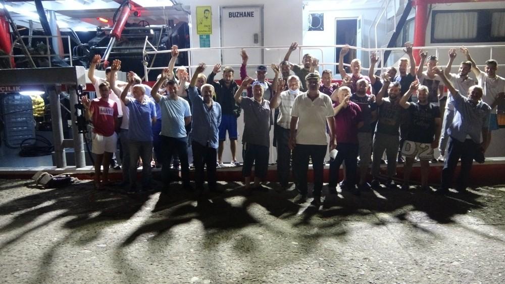 Ordulu balıkçılar 'Vira Bismillah' dedi