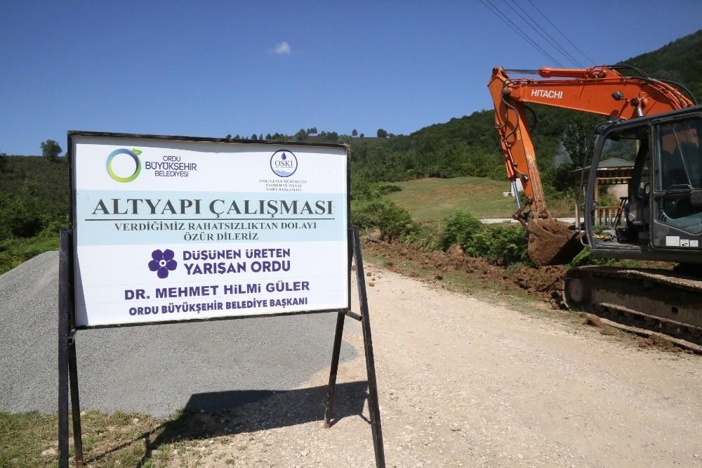 Aybastı'da içme suyu hattı yenileniyor