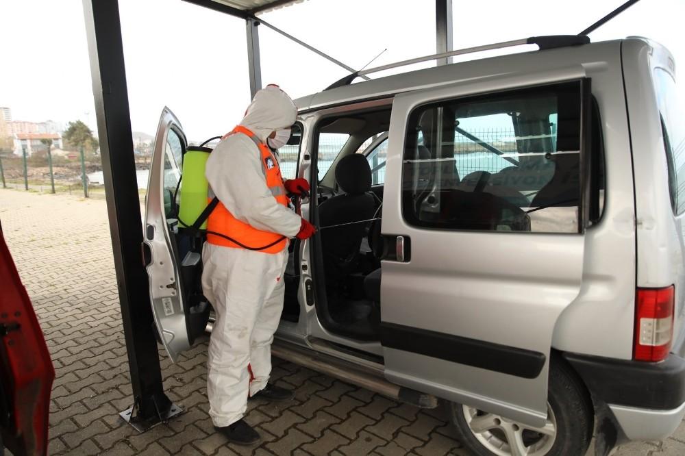 Fatsa Belediyesi araç dezenfeksiyon istasyonunu yeniden hizmete sundu