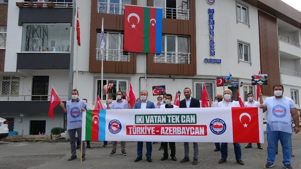 Ordu'dan Azerbaycan'a destek, Ermenistan'a tepki