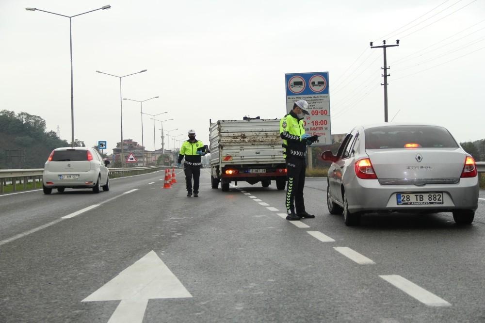 Ordu'da en çok trafik cezası hız sınırından