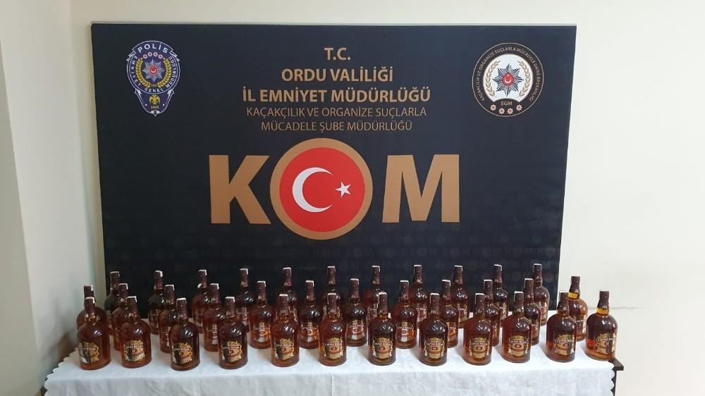 Ordu'da sahte viski operasyonu