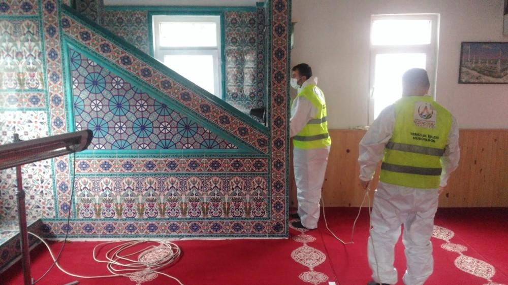 Altınordu'da ibadethanelerde 59 bin metrekare alan dezenfekte edildi