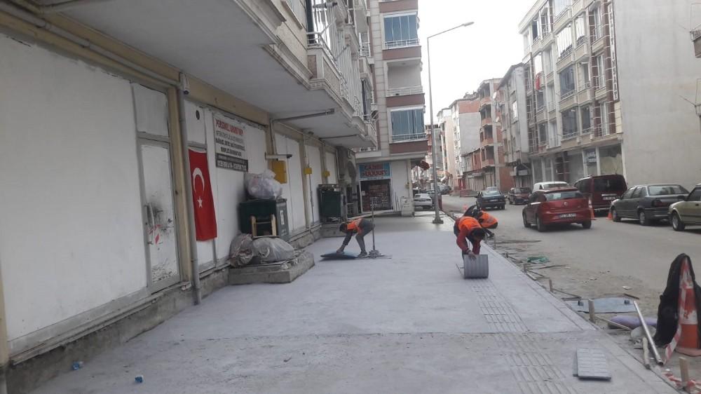 Fatsa'nın kaldırımları yenileniyor
