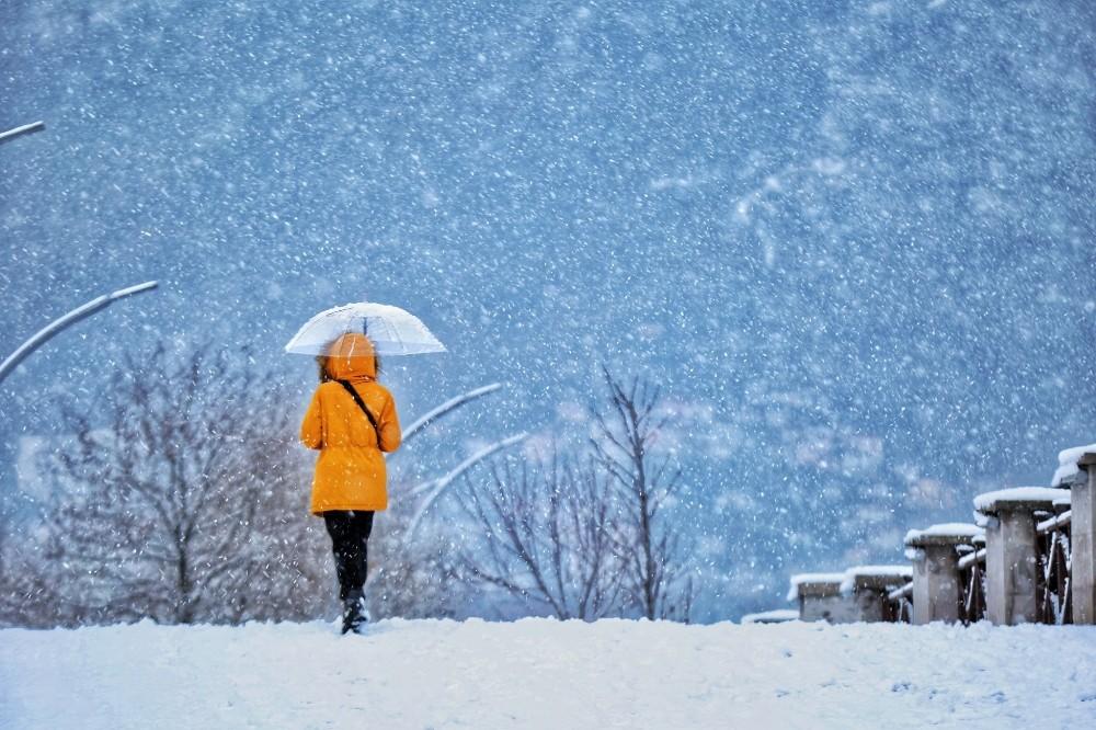 Ordu'da kar yağışından kartpostallık manzaralar