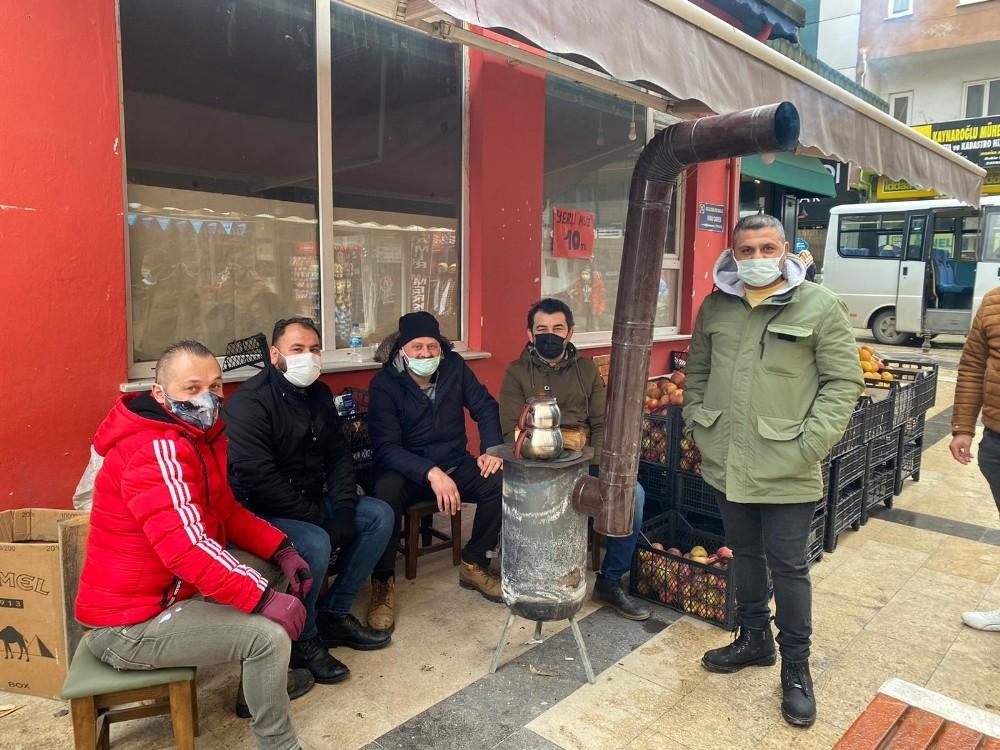 Seyyar esnafın, Karadeniz usulü ısınma çözümü