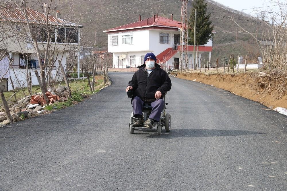 Engelli vatandaşın yol sevinci