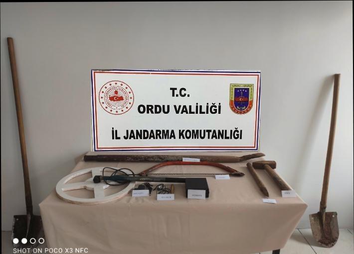 Ordu'da kaçak define arayan 7 kişi yakalandı