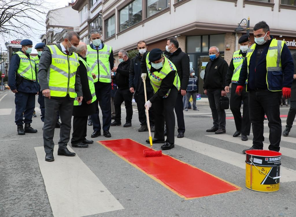 Ordu'da yollara 'kırmızı çizgi'