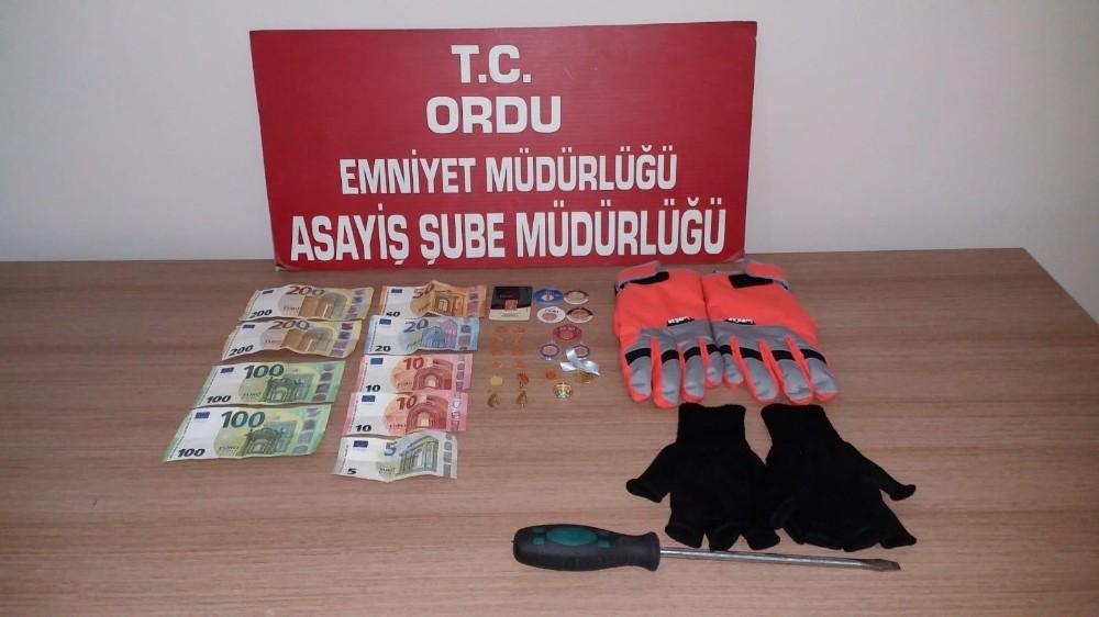 Ordu'da ziynet eşyaları çalan hırsızlar yakalandı