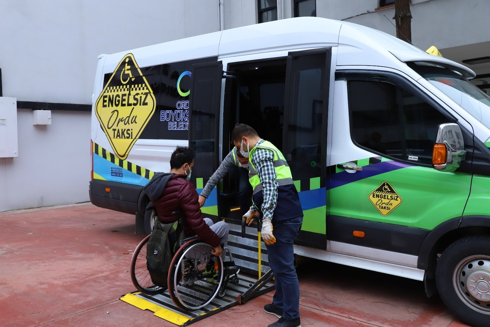 Ordu'da engelli bireyler için 'Engelsiz Taksi'