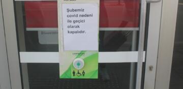 Ordu'da özel bir banka şubesi karantinaya alındı