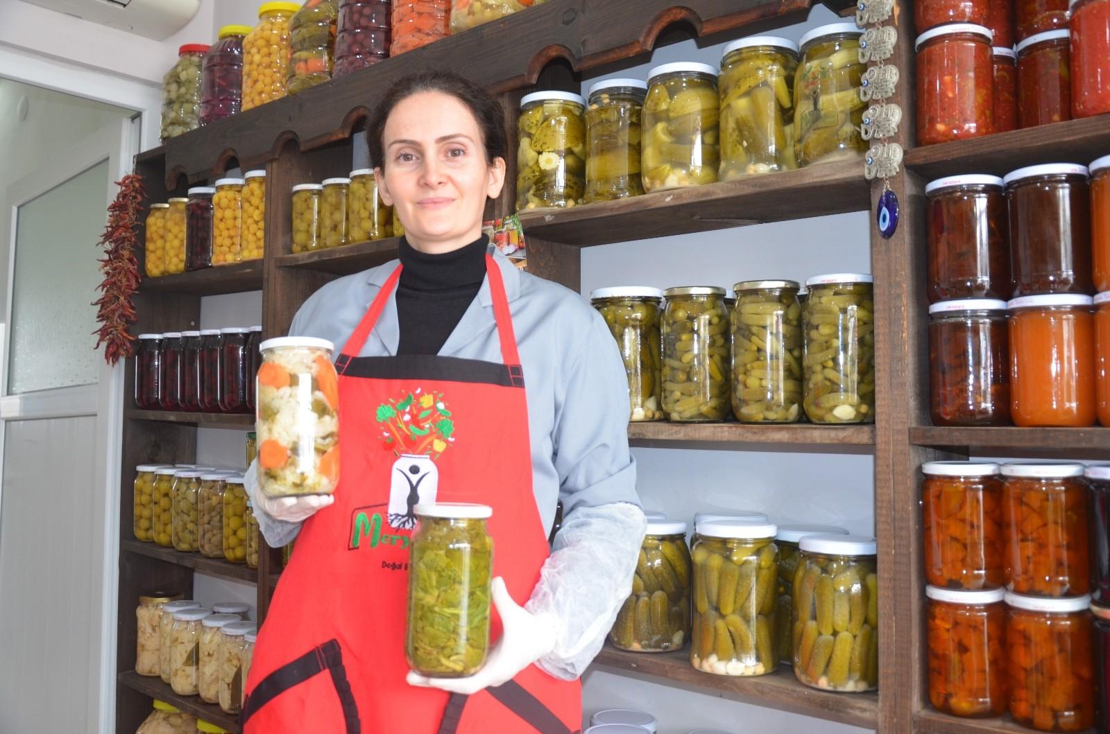 Ordulu kadın girişimci Karadeniz turşularını Türkiye'ye satıyor