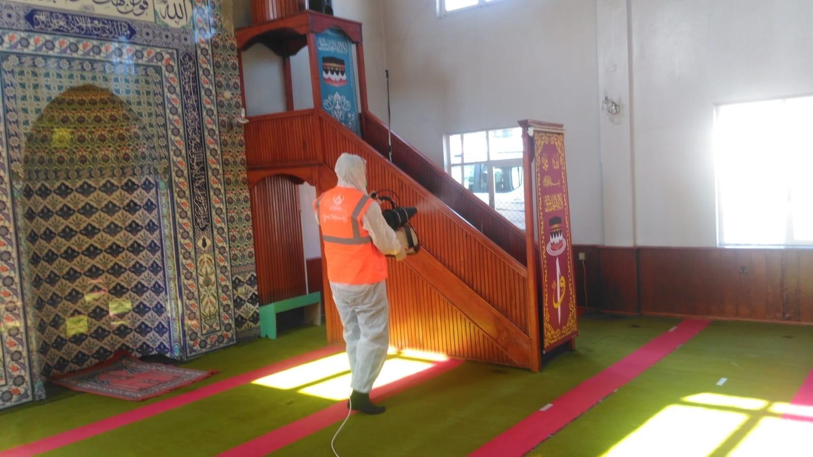 Altınordu'da camiler temizlendi