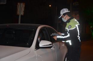 Sürücüler alkol testinden geçti