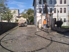 Ünye sokaklarında kapsamlı temizlik