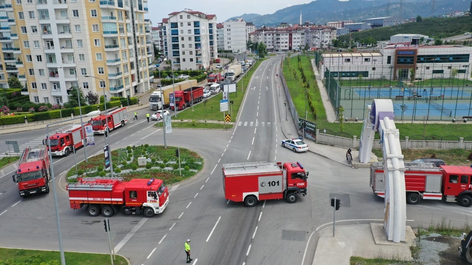 Can Azerbaycan yardım ekipleri Ordu'da yakıt ikmali yaptı