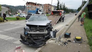 Ordu'da trafik kazası: 1 yaralı